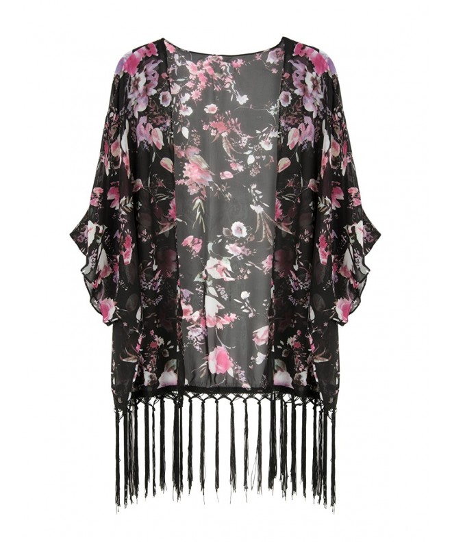 Choies Womens Floral Kimono Coverup