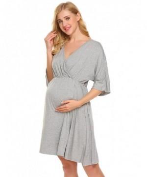 Ekouaer Hospital Nightgown Maternity Sleepwear