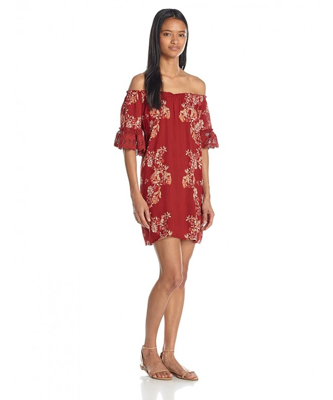 Angie Womens Shoulder Dress Crochet