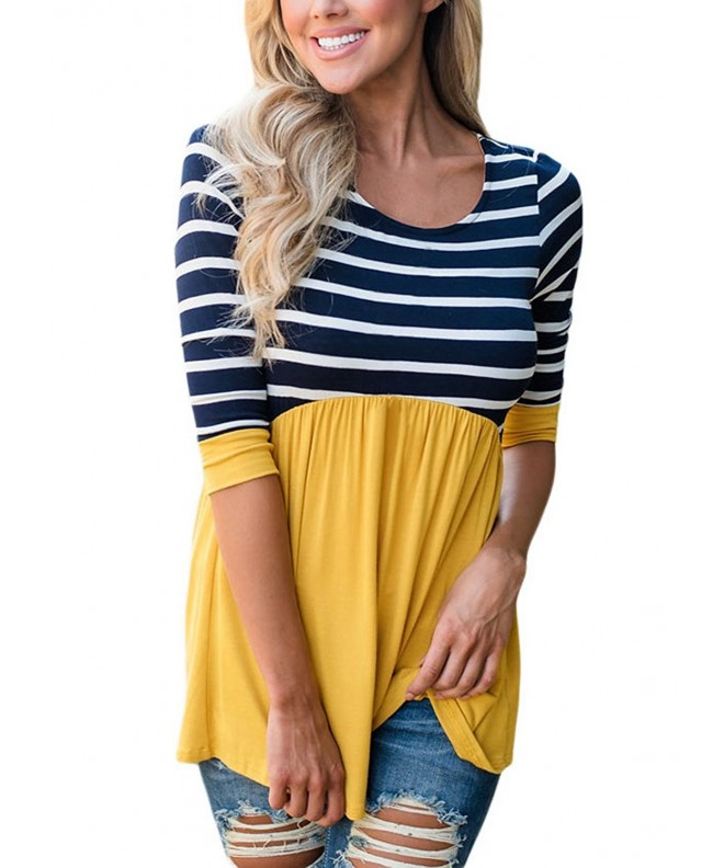 HOTAPEI Casual Contrast Sleeve Striped