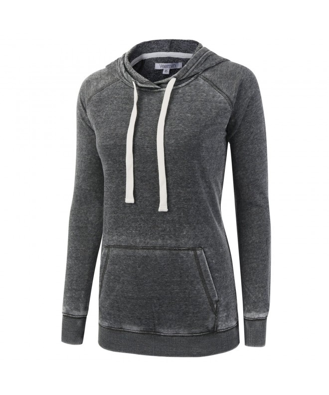 Vetemin Burnout Hoodies Sweater Heather