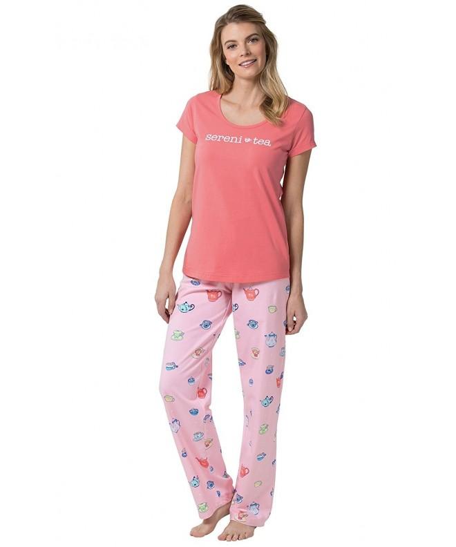 PajamaGram Sereni Tea Womens Pajamas Short Sleeved