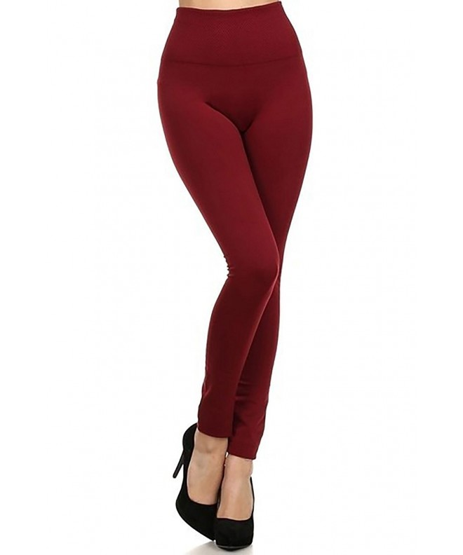 Yelete Womens Waistband Seamless Leggings