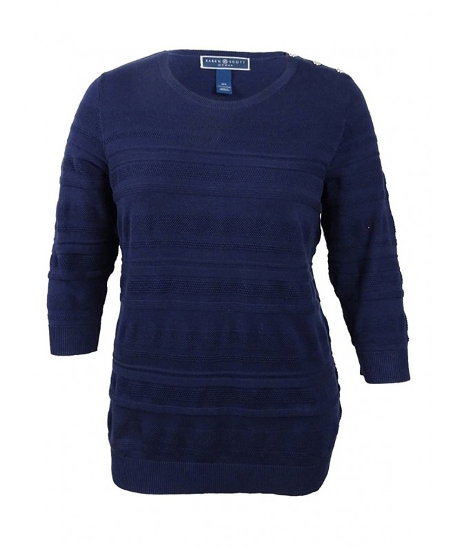 Karen Scott Textured Pullover Sweater