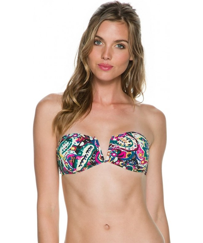 Volcom Womens Bandeau Bikini Elastane