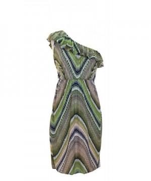 Vibrant V neck Knee Length Dress