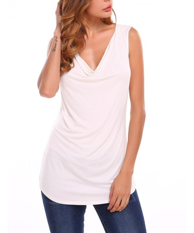 Soteer Womens Ruched Sleeveless Stretch