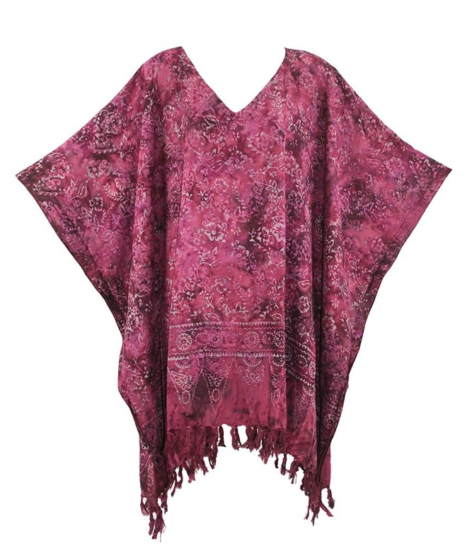 Beautybatik Purple Caftan Kaftan Blouse