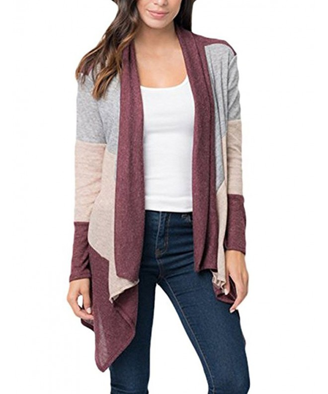 Tobrief Womens Varsity Cardigan Sweaters