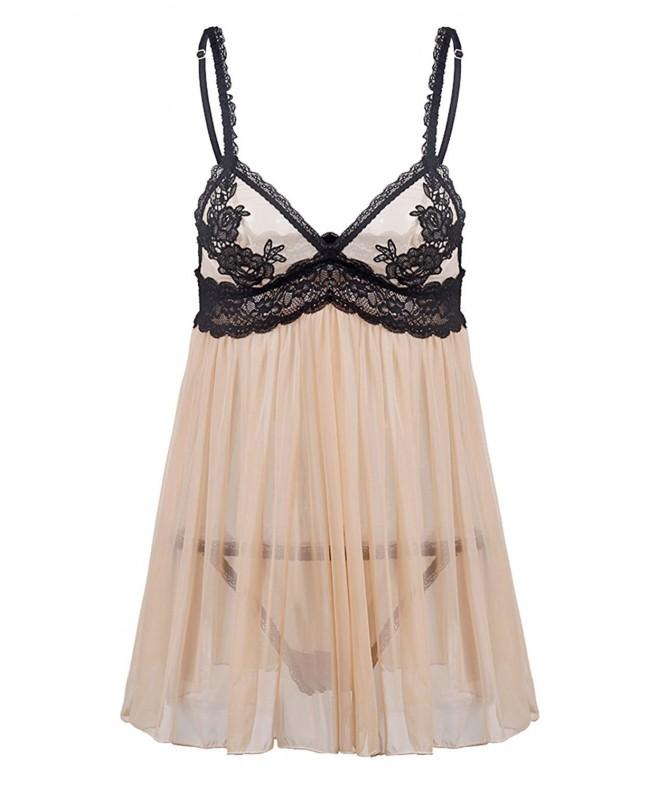 Justgoo Lingerie Sleepwear Patchwork Miniskirt
