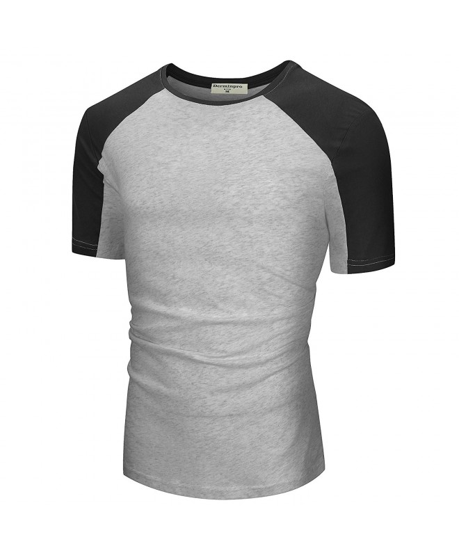 Derminpro Mens Casual T Shirt Black Gray