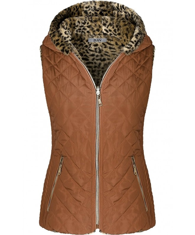 2LUV Womens Quilted Hooded Closure
