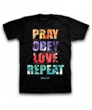 Pray Obey Love repeat Black