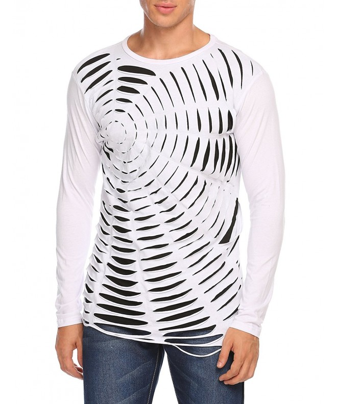 COOFANDY Fashion Sleeve Spider Hollow