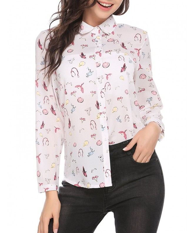 ThinIce Sleeve Chiffon Button Blouse