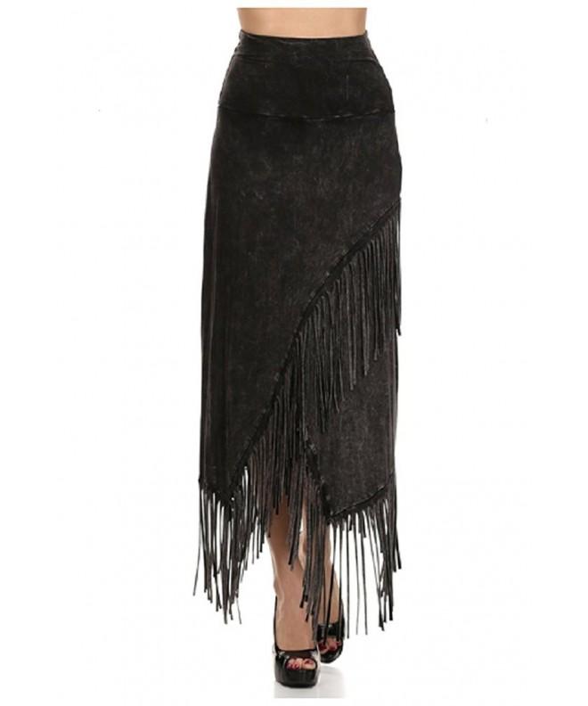 Party Fringe Skirt Mineral Washed