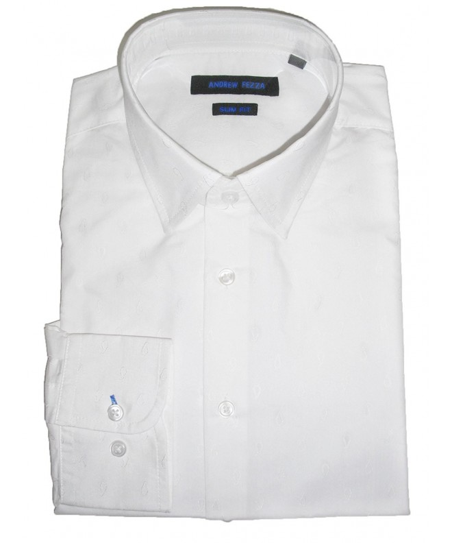 Andrew Fezza Solid Dress Shirt