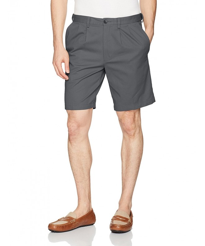 Haggar Stretch Chino Pleat Charcoal