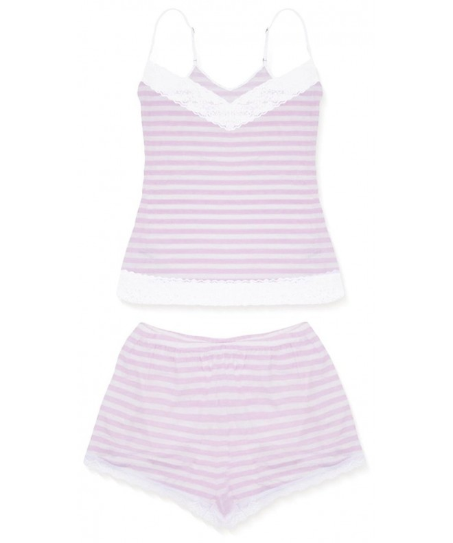 cheekfrills Womens Stripe Camisole Shorts