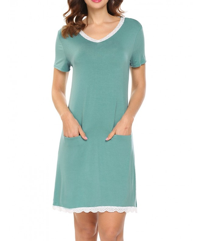 Ekouaer Womens Nightgown Sleeve Nightwear