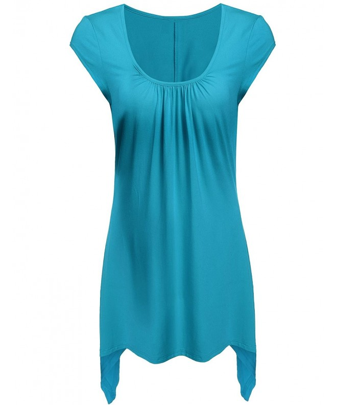 Elesol Womens Sleeves Handkerchief Hemline