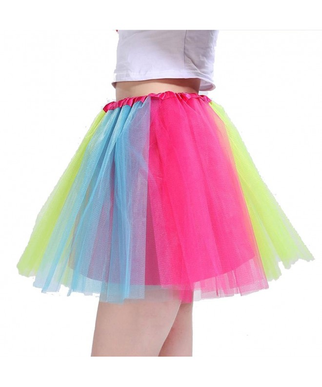 Beluring Womens Multicolor Rainbow Rockabilly