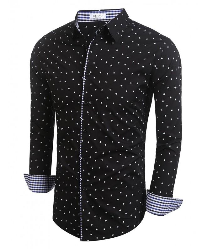 Misakia Polka Sleeve Dress Shirt