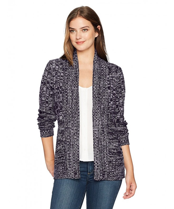 Jason Maxwell Mix Stich Cardigan Blackberry