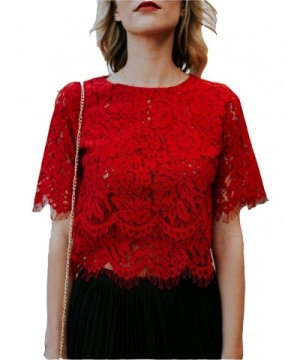 MarcoJudy Womens Sleeve Floral Blouse