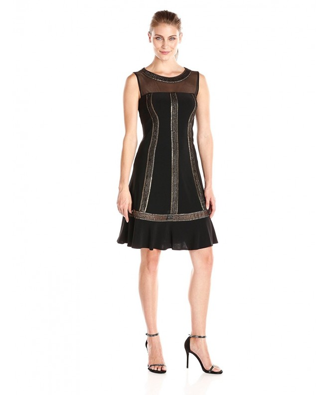 S L Fashions Womens Trimmed Dress