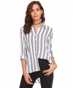 Zeagoo Womens Sleeve Striped Blouses