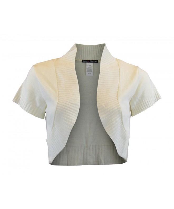 Juniors Sleeve Classic Knitted Bolero