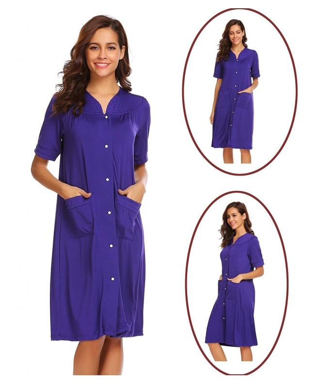 Dicesnow Nightgown Sleepshirts Sleepwear Nightshirts