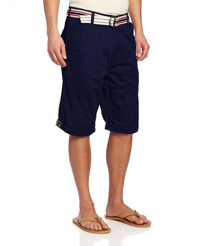 Rocawear Mens Belted Short Blue
