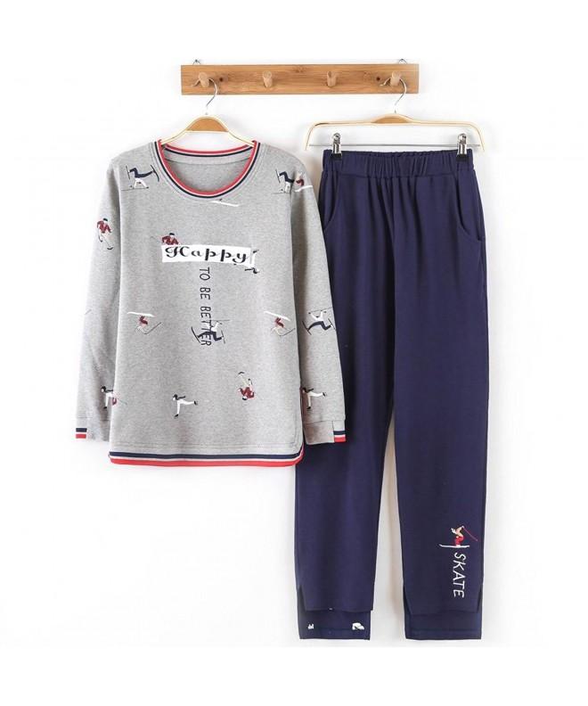 HaloVa Pajamas Sleepwear Sweatshirt Loungewear