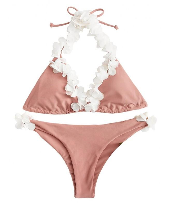 SweatyRocks Womens Bathing Flower Triangle