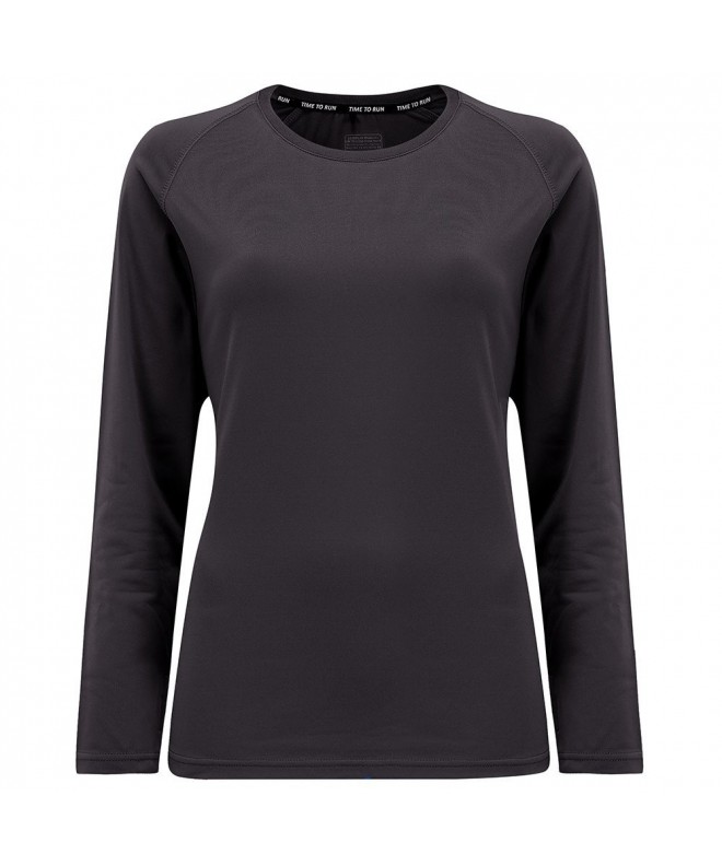 Womens Lightweight Sleeve Running Charcoal