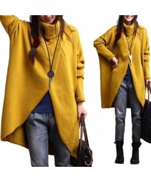 Slim Bloom Turtleneck Knitted Pullovers