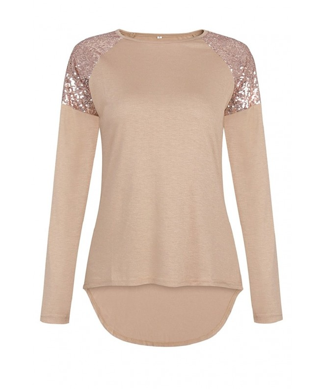 Sipaya Casual Sleeve Shirt Sequins