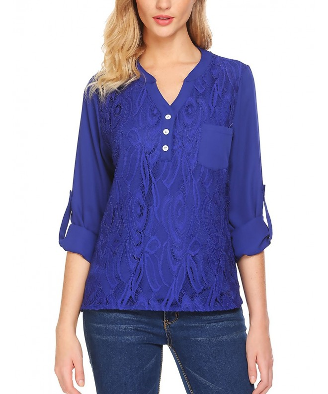 Gumod Womens Button Chiffon Blouses