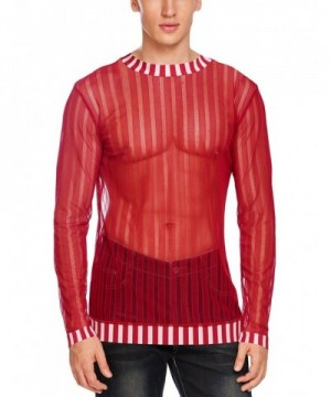 JINIDU Through Sleeve Clubwear Shirts