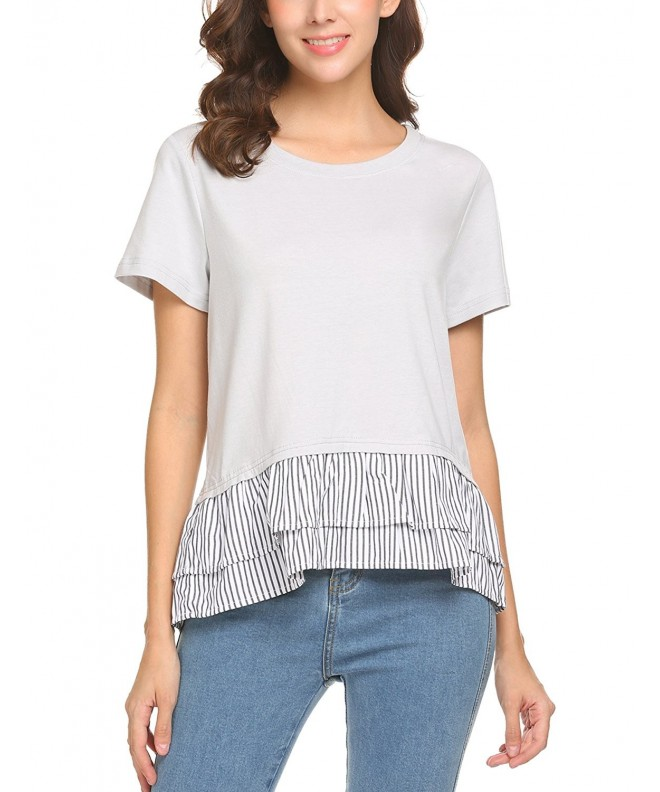 Thinkwell Casual Sleeve Ruffles Blouse