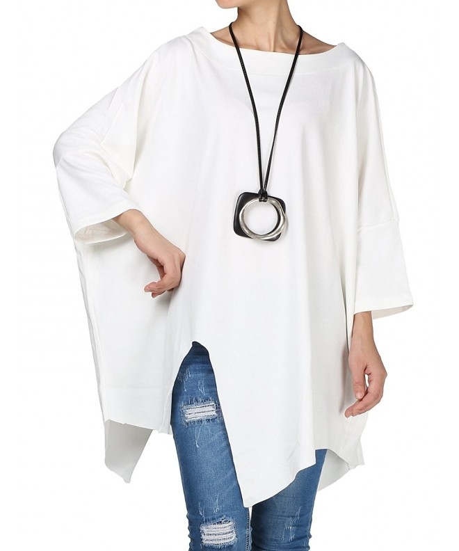 Mordenmiss Womens Solid Asymmetry Pullover