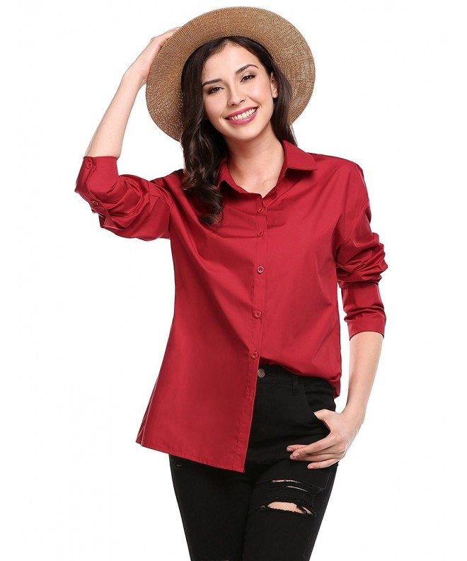 Zeagoo Womens Knotted Sleeve Blouse