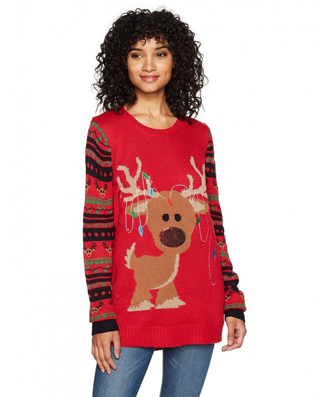 Derek Heart Womens Christmas Reindeer