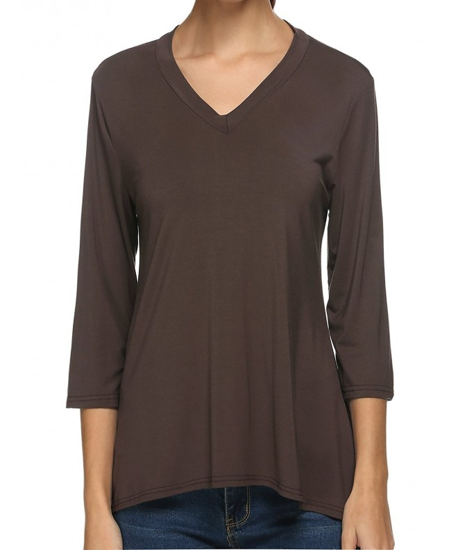 ANGVNS Womens Oversize Sleeves Shirts
