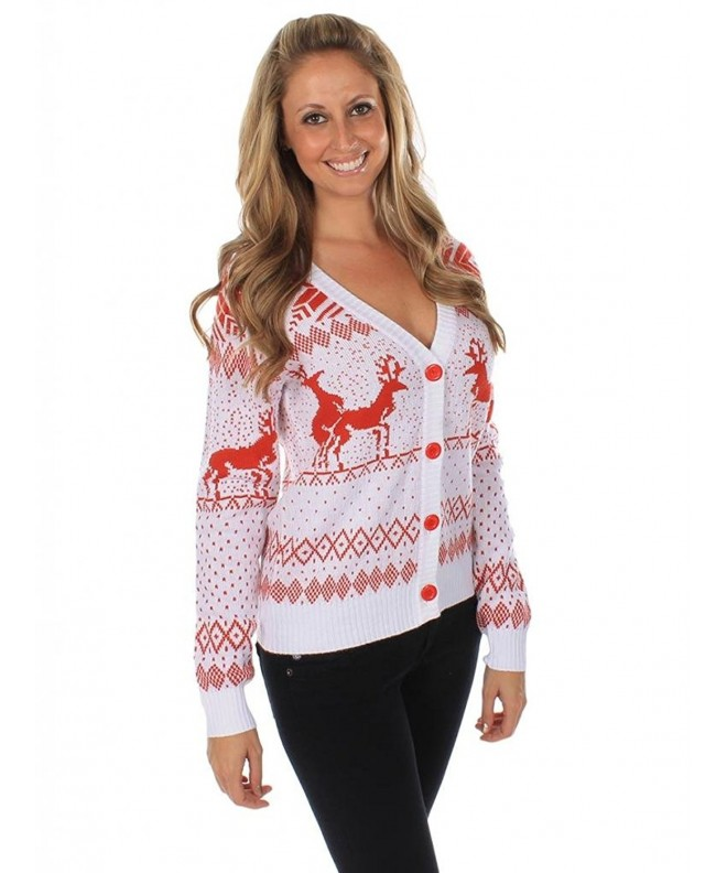 Womens Ugly Christmas Sweater Reindeer