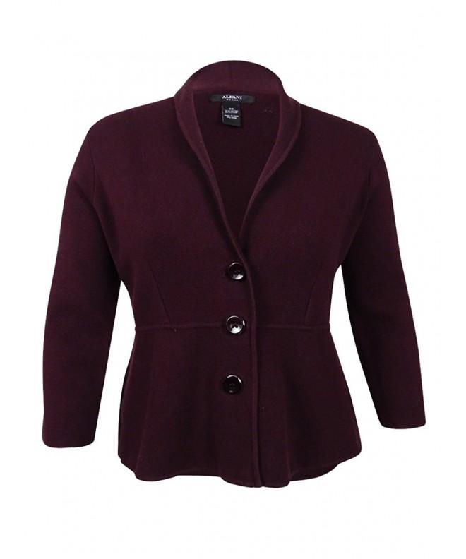 Alfani Womens Collar Cardigan Sweater