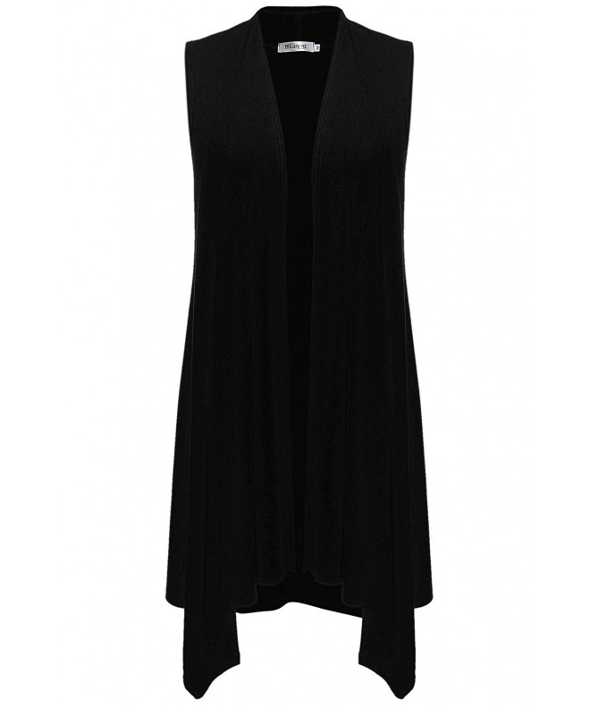 Meaneor Lightweight Open Front Sleeveless Cardigans