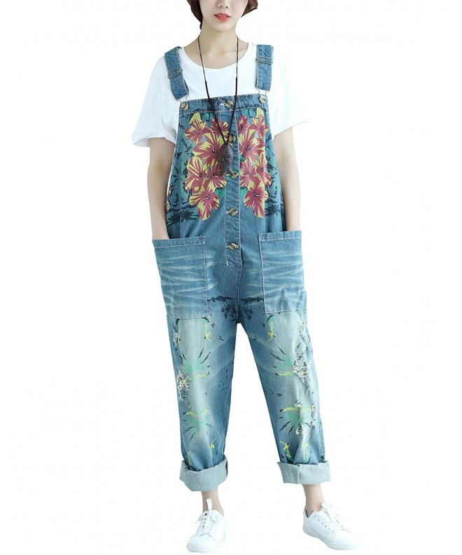 Yeokou Womens Casual Overalls Oversized